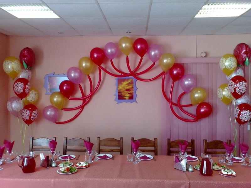 Как украсить шарами на юбилей своими руками